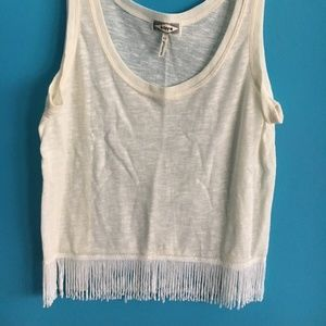 Kirra Ivory Tank top with fringe